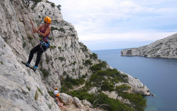 Initiation escalade calanques de Marseille, Morgiou