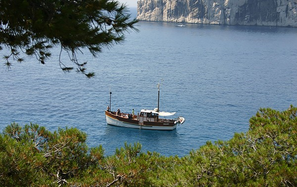 Day at sea in the national park of calanques